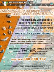 Nabór do Sekcji Wspinaczki Sportowej AKS Strzegom