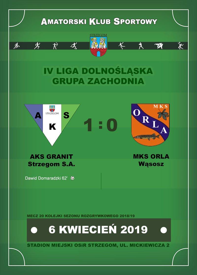 AKS GRANIT Strzegom S.A.  vs  MKS ORLA Wąsosz