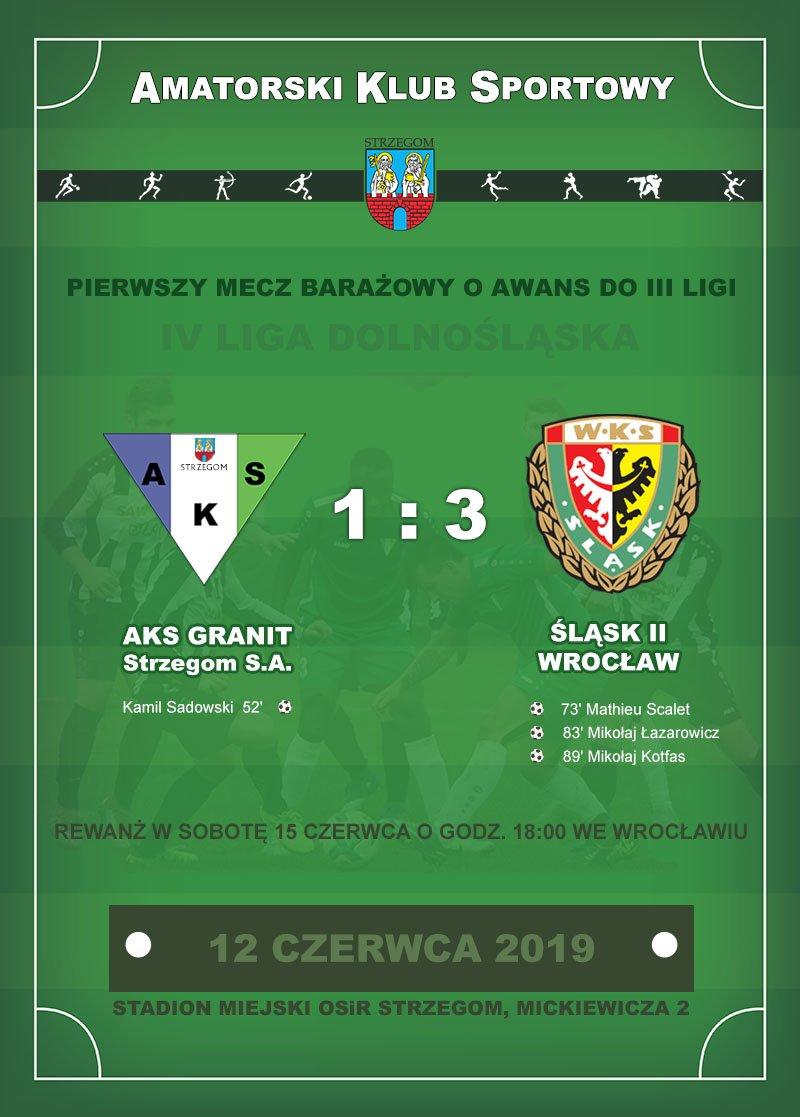 AKS GRANIT Strzegom S.A. vs Śląsk II Wrocław