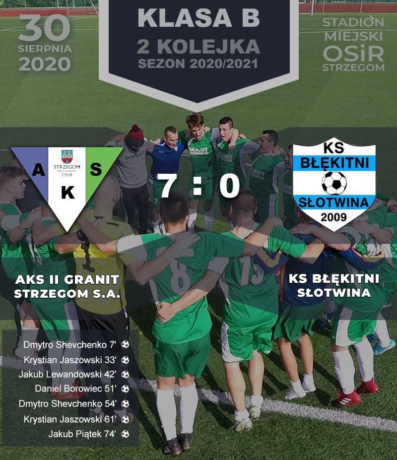 AKS II GRANIT Strzegom S.A. vs Błękitni Słotwina
