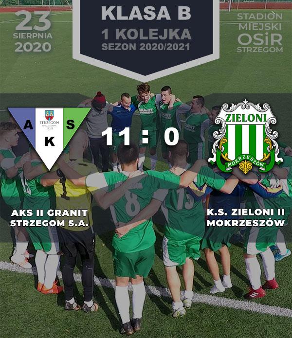 AKS II Granit Strzegom S.A. vs KS Zieloni Mokrzeszów