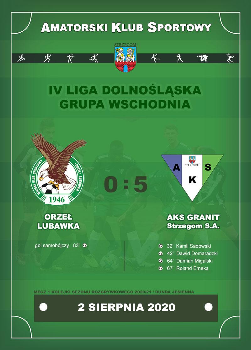 ORZEŁ Lubawka vs AKS GRANIT Strzegom S.A.