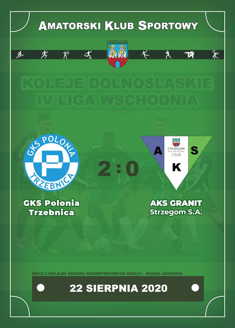 GKS Polonia Trzebnica vs AKS GRANIT Strzegom S.A.