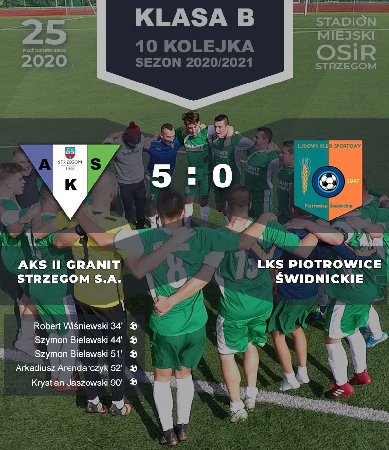 AKS II GRANIT Strzegom S.A. vs LKS Piotrowice Świdnickie