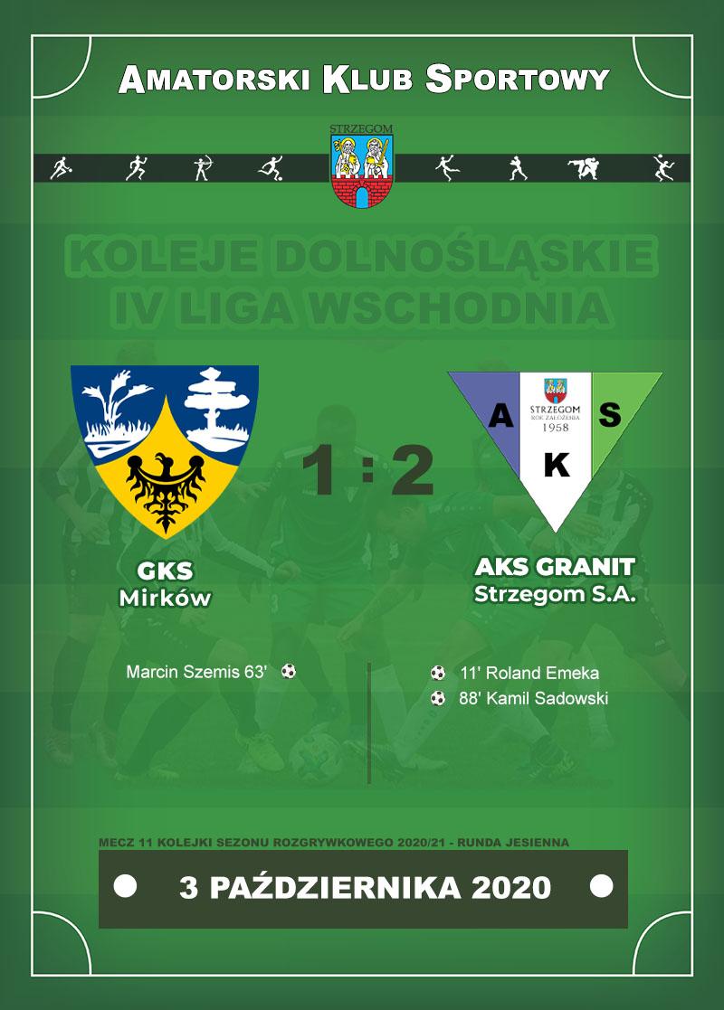 GKS Mirków vs AKS GRANIT Strzegom S.A.