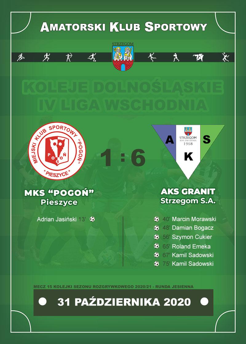 MKS POGOŃ Pieszyce vs AKS GRANIT Strzegom S.A.